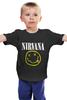 "Детская футболка ""Nirvana "" - гранж, супер, арт, nirvana, стиль, kurt cobain, логотип"
