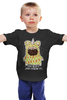 """Детская футболка классическая унисекс """"Joy!"""" - приколы, pug, мопс"""