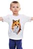 """Детская футболка """"Poly Fox"""" - fox, лиса, лисица, полигоны"""