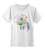 """Детская футболка классическая унисекс """"Муравьед с цветами"""" - праздник, цветы, 8 марта, поздравление, муравьед"""