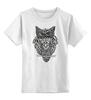 """Детская футболка классическая унисекс """"Совушка"""" - owl, птица, рисунок, сова, филин"""