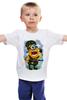 """Детская футболка классическая унисекс """"Мир! И только любовь!"""" - 23 февраля, день рождения, миньоны, миньон, minion"""