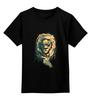 """Детская футболка классическая унисекс """"Лев с пистолетом """" - king, lion, swag, gun"""