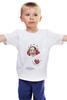 """Детская футболка классическая унисекс """"Девочка с лентами."""" - new year, christmas"""
