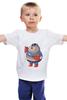 "Детская футболка классическая унисекс ""Fat Captain America"" - капитан америка, captain america, обжорство, фаст-фуд"