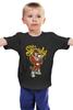 """Детская футболка классическая унисекс """"gangsta tiger"""" - hip-hop, tiger, тигр, гангстер, gangster"""
