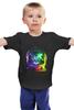 """Детская футболка """"Кот космонавт"""" - кот, арт, cat, космос, абстракция, космонавт"""