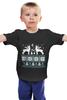 """Детская футболка """"Норвежский лес"""" - новый год, зима, снег, рождество, снежинки, паттерн, олени, deer, норвежский орнамент, уютный"""