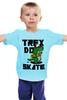 "Детская футболка ""Динозавр на Скейте"" - скейтборд, skate, dino, динозавр"