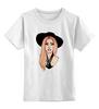"""Детская футболка классическая унисекс """"Lady Gaga                    """" - музыка, арт, авторские майки, style, стиль, рисунок, поп, swag, lady gaga, леди гага"""