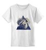 """Детская футболка классическая унисекс """"Волк."""" - животные, природа, волк, wolf"""