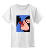 """Детская футболка классическая унисекс """"Pop art"""" - женщина, женщина кошка, кошка, cherry, поп арт"""