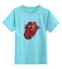 """Детская футболка классическая унисекс """"Rolling Stones' 50th Anniversary """" - любовь, rock, логотип, язык, рок-н-ролл, rolling stones, юбилей"""