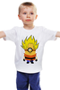 """Детская футболка """"Миньон Сон Гоку """" - миньон, гадкий я, жемчуг дракона, dragon ball, сон гоку"""
