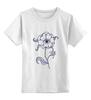 """Детская футболка классическая унисекс """"""""Eye"""""""" - арт, цветок, глаз, flower, eye"""