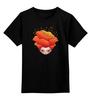 """Детская футболка классическая унисекс """"Девушка Цветок"""" - девушка, цветок, 8 марта"""