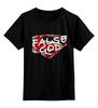 """Детская футболка классическая унисекс """"Superman - false god"""" - batman, superman, batmanvssuperman, false god"""