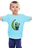 """Детская футболка классическая унисекс """"Миньон с Бананом"""" - banana, банан, гадкий я, minion"""