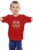 """Детская футболка """"Норвежский лес"""" - новый год, зима, снег, рождество, снежинки, new year, паттерн, олени, норвежский орнамент, уютный"""