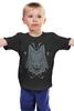 """Детская футболка классическая унисекс """"Волк Узор"""" - арт, узор, дизайн, волк, wolf"""