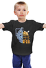 "Детская футболка классическая унисекс ""Daleks x Cybermen (Daft Punk)"" - doctor who, daft punk, доктор кто"