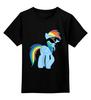 """Детская футболка классическая унисекс """"Rainbow Dash"""" - rainbow dash, mlp, my little pony, пони, рэйнбоу"""