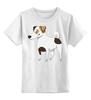 """Детская футболка классическая унисекс """"ДЖЕК РАССЕЛ.СОБАКА"""" - майкл джексон, щенок, собака, животное, рассел"""