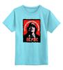 """Детская футболка классическая унисекс """"AC/DC """" - hard rock, ac-dc, хэви метал, эйси диси, acdc"""