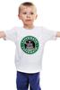 "Детская футболка ""Daleks (Starbucks)"" - доктор кто, starbucks, старбакс"