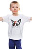 """Детская футболка классическая унисекс """"Кот пессимист"""" - арт, cat, котэ, grumpy"""