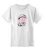"""Детская футболка классическая унисекс """"space"""" - space, космонавт, цветы"""