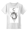 """Детская футболка классическая унисекс """"единорог (unicorn)"""" - арт, луна, unicorn, единорог, moon, дотворк"""