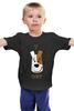 """Детская футболка классическая унисекс """"T-REX"""" - тирекс, терьер, jack russel, джек рассел, джек рассел терьер"""