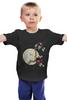 """Детская футболка классическая унисекс """"сова на черном"""" - сова, owl"""