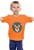 """Детская футболка классическая унисекс """"Гламурный лев"""" - животные"""