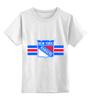 """Детская футболка классическая унисекс """"Нью-Йорк Рейнджерс"""" - хоккей, nhl, нхл, rangers, нью-йорк рейнджерс"""