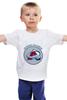 """Детская футболка классическая унисекс """"Колорадо Эвеланш """" - хоккей, nhl, нхл, колорадо эвеланш, colorado avalanche"""