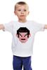 """Детская футболка классическая унисекс """"Спок (8-бит)"""" - star trek, спок, spock, звёздный путь"""