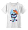 """Детская футболка классическая унисекс """"Rainbow Dash"""" - pony, mlp, пони, magic, friendship"""