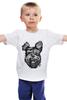 """Детская футболка классическая унисекс """"Суровый пес"""" - арт, dog, пес, собака, angry, йоркширский терьер, yorkshire terrier"""