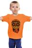 """Детская футболка """"PSYSCULL"""" - череп, scull, оранжевый, orange, психоделика, оранж"""