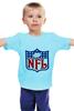 "Детская футболка ""NFL"" - авторские майки, американский футбол, american football, нфл"