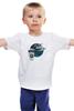 """Детская футболка классическая унисекс """"время кофе"""" - город, ночь, птицы, кофе"""
