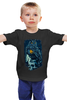 """Детская футболка классическая унисекс """"Сова и Череп"""" - skull, череп, сова, иллюстрация, owl"""