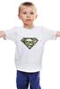 """Детская футболка классическая унисекс """"Superman - камуфляж"""" - superman, россия, камуфляж, camo"""