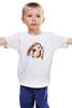 """Детская футболка классическая унисекс """"Футболка С Собачкой"""" - девушке"""