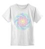 """Детская футболка классическая унисекс """"Яркий цветок в этническом стиле"""" - цветы, узор, мандала, индия, мехенди"""
