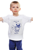 """Детская футболка классическая унисекс """"Спортивный мопс"""" - pug, фитнес, мопс, squat, приседания"""