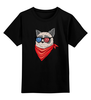 """Детская футболка классическая унисекс """"Сердитый котик в 3D """" - grumpy cat, тард, сердитый котик"""
