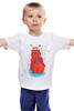 """Детская футболка """"Новогодний медведь"""" - праздник, медведь, мужу, мишка, рыжий, рождество, new year, новыйгод, 2015, варежки"""
